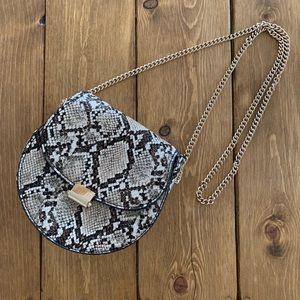 Mango faux snakeskin crossbody purse 🐍